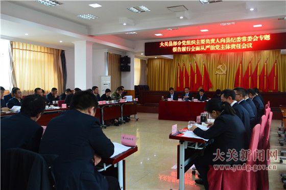 大关部分党组织主要负责人向县纪委常委会报告履行全面从严治党主体责任